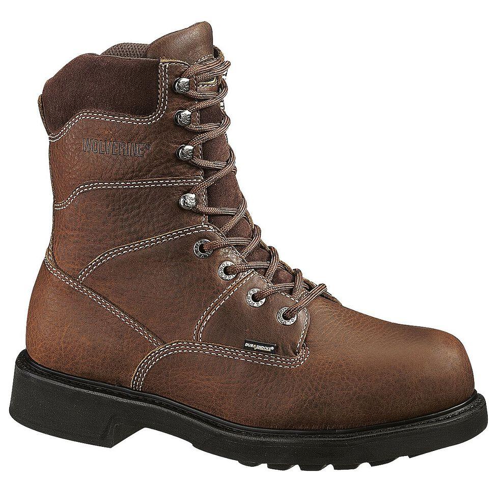 "Wolverine Tremor 8"" Slip Resistant Work Boots, Brown, hi-res"
