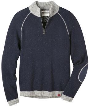Mountain Khakis Men's Navy Fleck Quarter Zip Sweater  , Navy, hi-res
