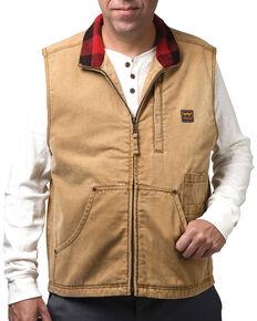 Walls Men's Pecos Vintage Duck Vest, Pecan, hi-res