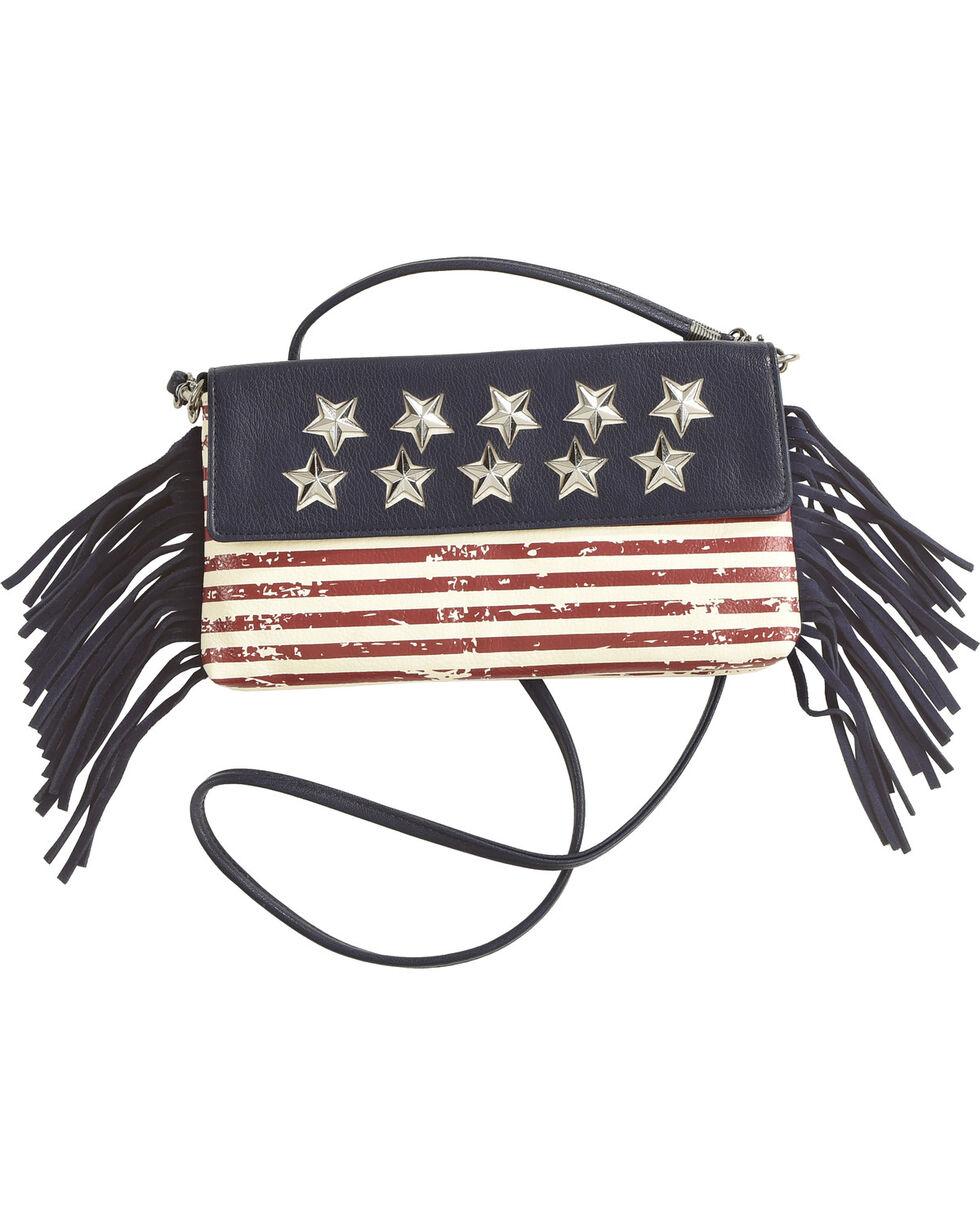 Shyanne Women's American Flag Crossbody Bag , Blue, hi-res