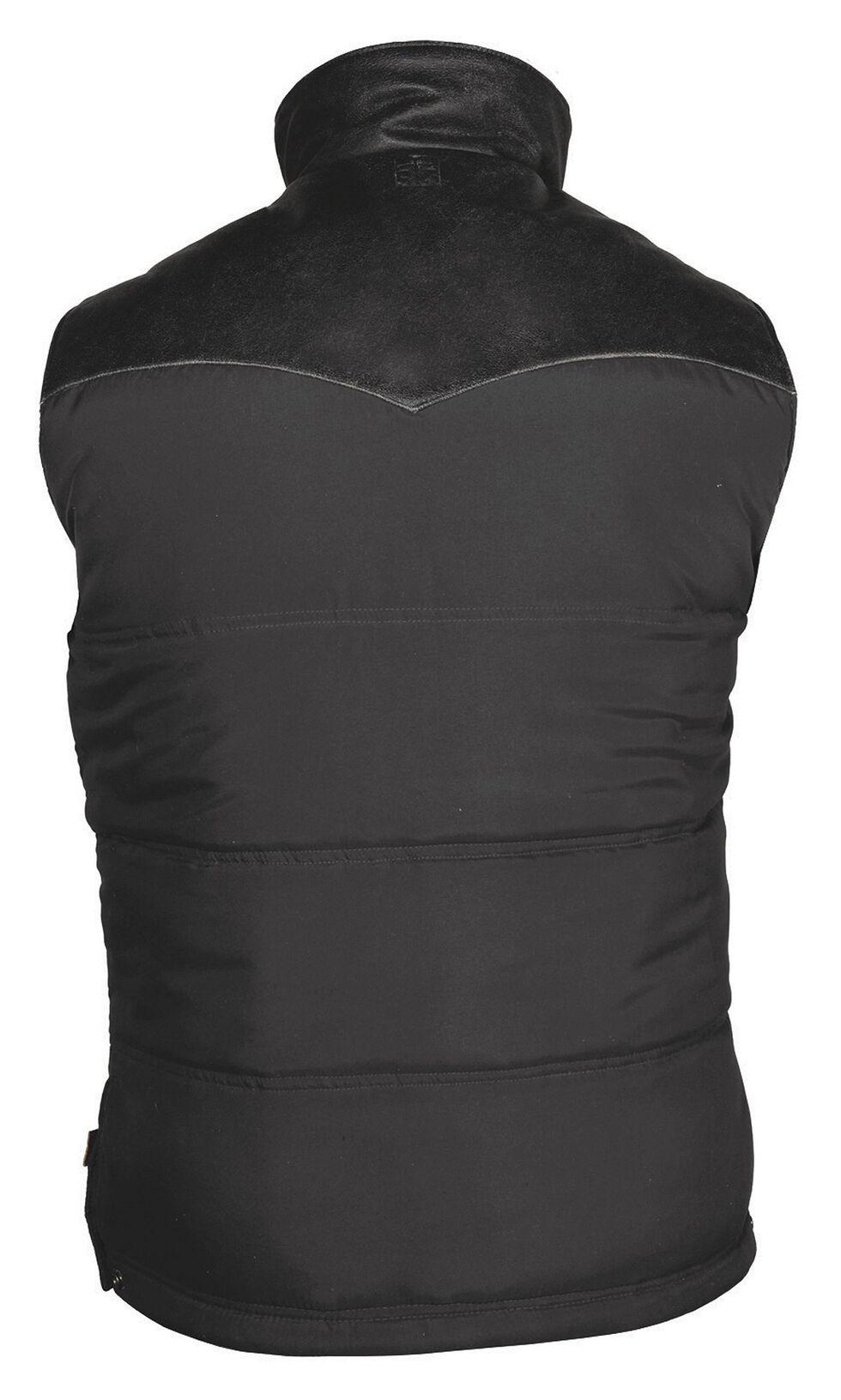 STS Ranchwear Men's Lucas Down Style Black Vest - Big & Tall - 4XL, Black, hi-res
