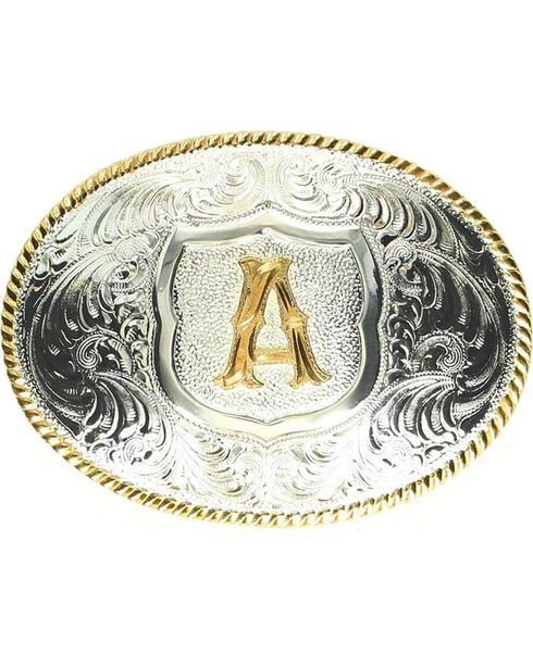 "Crumrine Initial ""A"" Buckle, Silver, hi-res"