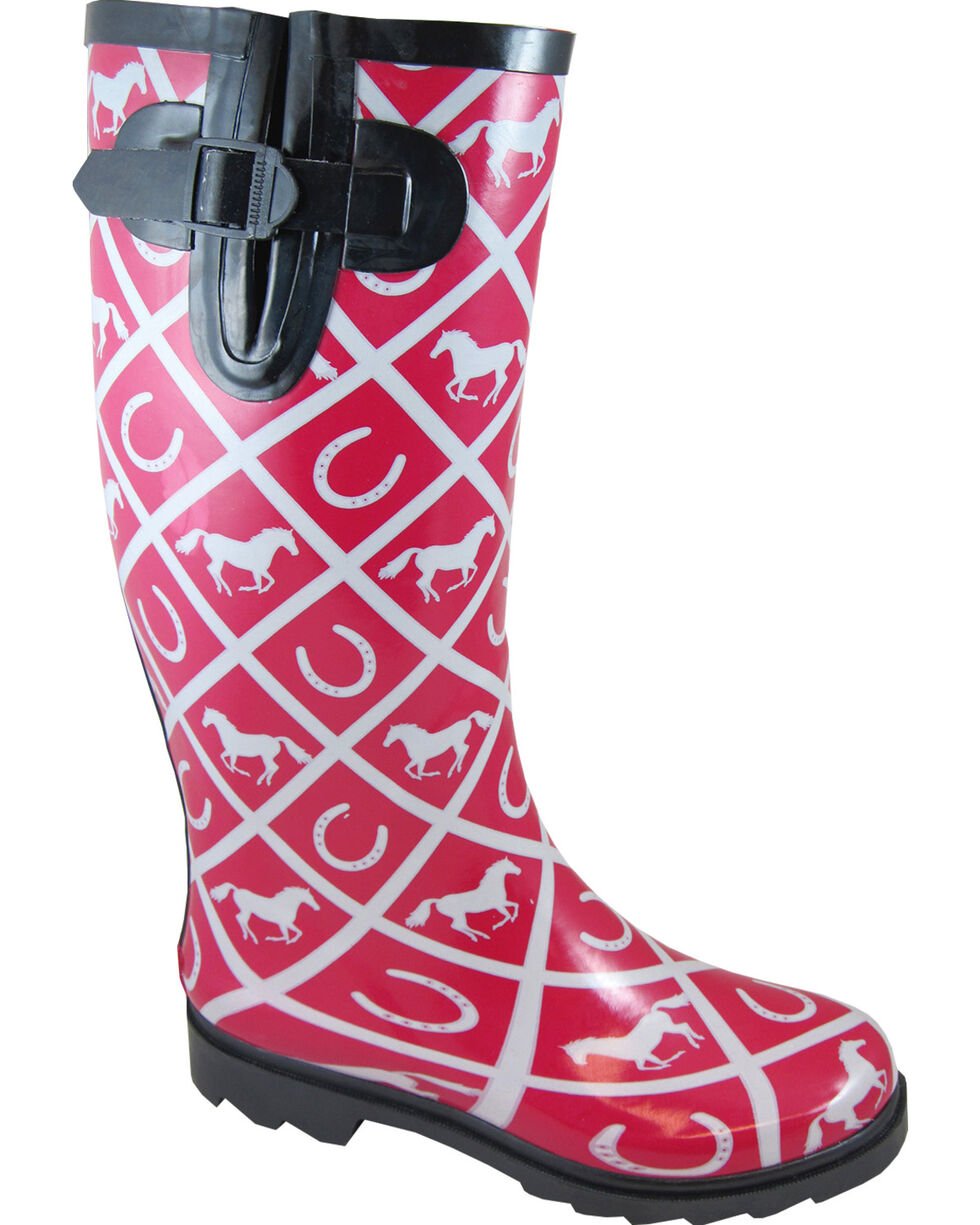 Smoky Mountain Women's Cheshire Waterproof Boots, Maroon, hi-res