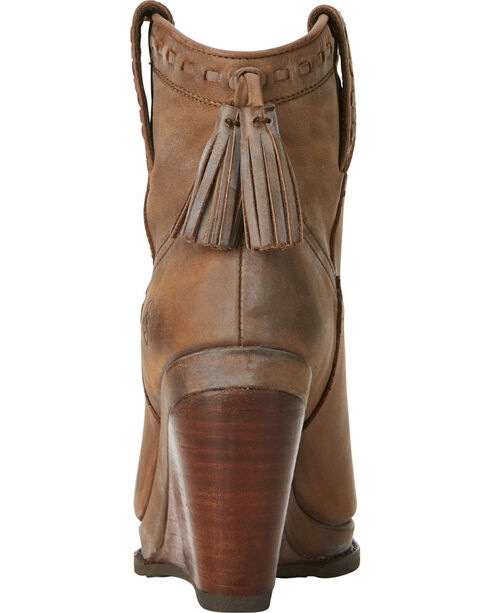 Ariat Women's Tan Broadway Wedge Boots - Round Toe, Tan, hi-res