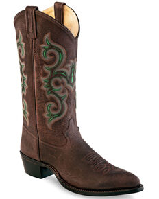 Old West Men's Brown Western Boots - Pointed Toe, Brown, hi-res