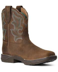 Ariat Women's Anthem Waterproof Western Work Boots - Soft Toe, Brown, hi-res