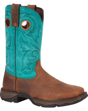 Durango Women's Lady Rebel Bar None Western Boots - Square Toe, Brown, hi-res