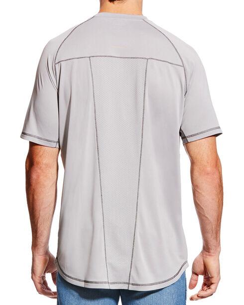 Ariat Men's Rebar Sunstopper Short Sleeve Shirt, Grey, hi-res