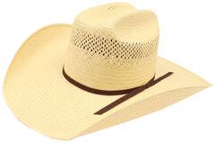 Ariat Men's 10X Americana Straw Hat, Natural, hi-res
