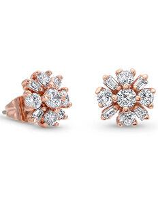 Montana Silversmiths Women's Simply Brilliant Rose Flower Earrings, Rose, hi-res