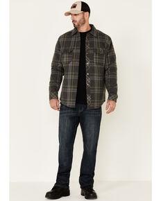 Hawx Men's Dark Grey Steamer Insulated Flannel Work Shirt Jacket , Dark Grey, hi-res