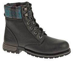 Caterpillar Women's Kenzie Work Boots - Steel Toe, Black, hi-res