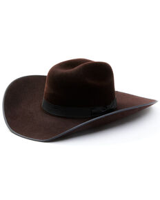 Serratelli Black Cherry Suede 8X Fur Felt Western Hat , Black Cherry, hi-res