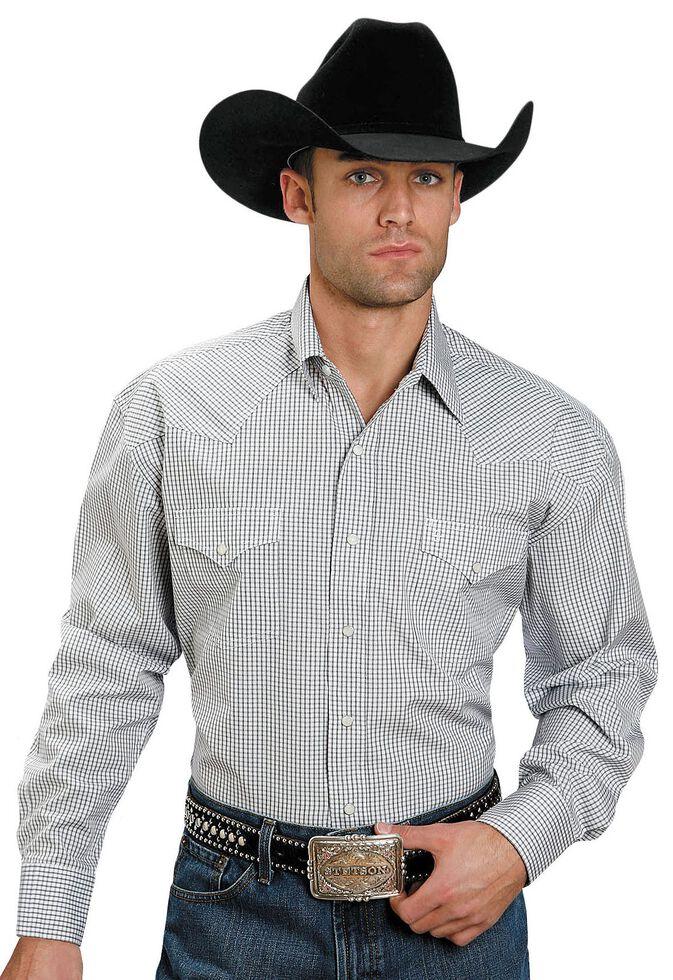 Stetson Snap Check Shirt, Navy, hi-res