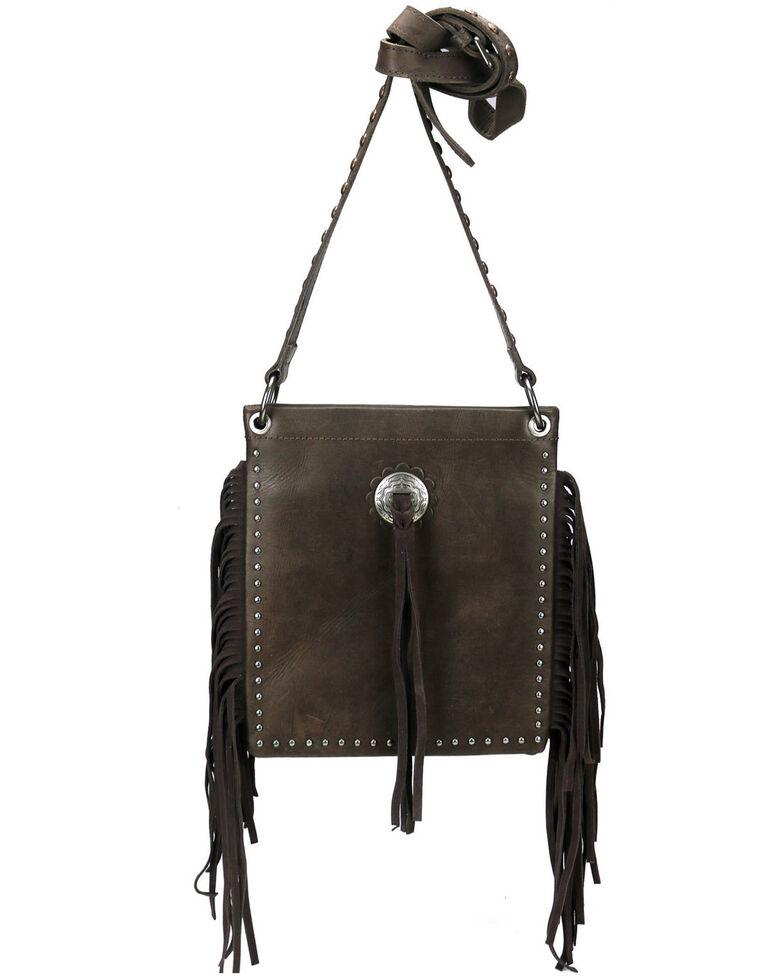 Montana West Women's Leather Fringe Crossbody Bag, Coffee, hi-res