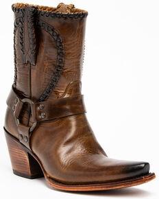 Idyllwind Women's Stomp Western Boots - Snip Toe, Medium Brown, hi-res