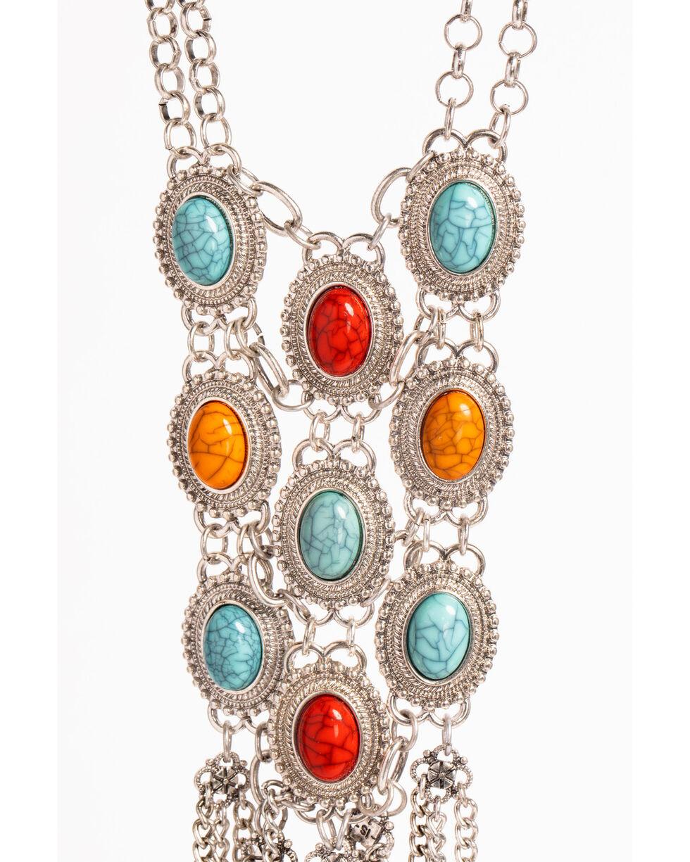 Shyanne Women's Fiesta Chain Fringe Necklace, Multi, hi-res