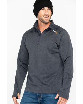 Timberland Men's Solid Understory 1/4 Zip Fleece Work Sweatshirt  , Charcoal, hi-res