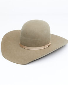 Rodeo King 7X Pecan Open Crown Match Band Western Felt Hat, Pecan, hi-res