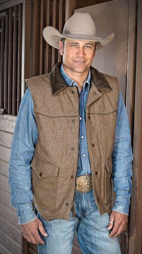 STS Ranchwear Men's Lariat Brown Vest - Big & Tall - 2XL-3XL, Brown, hi-res