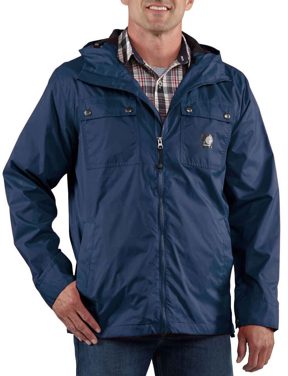 Carhartt Rockford Nylon Jacket - Big & Tall, Navy, hi-res