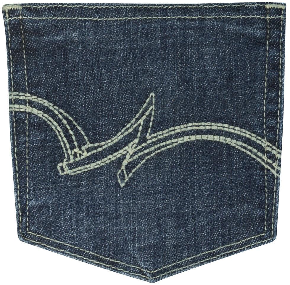 Wrangler Women's Dark Wash Boot Cut Jeans, Dark Blue, hi-res
