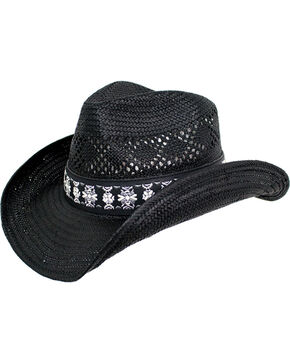 Peter Grimm Women's Black Lexi Cowgirl Hat , Black, hi-res