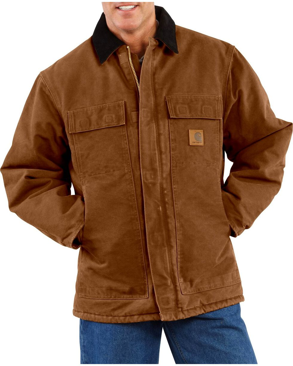 Carhartt Sandstone Traditional Work Coat, Carhartt Brown, hi-res
