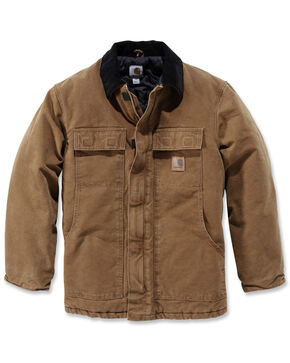 Carhartt Sandstone Traditional Work Coat - Big & Tall, Carhartt Brown, hi-res