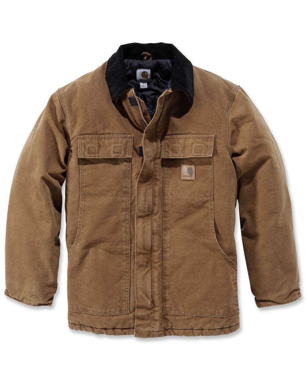 Carhartt Sandstone Traditional Work Coat - Big & Tall, Carhartt Brown, hi-res