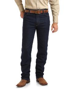 Wrangler Men's Cowboy Cut Active Flex Indigo Dark Boot Jeans , Blue, hi-res