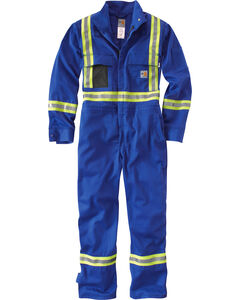 Carhartt Men's Flame Resistant High-Viz Coveralls - Regular Sizes, Royal, hi-res