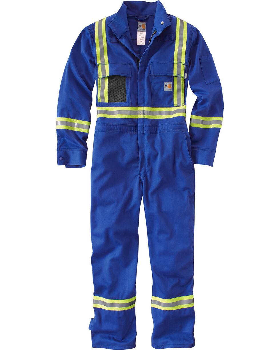 Carhartt Men's Flame Resistant High-Viz Coveralls - Regular Sizes, Royal, hi-res