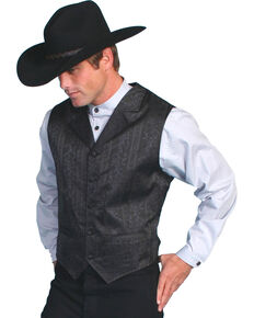 Rangewear by Scully Eaton Stripe Vest, Black, hi-res