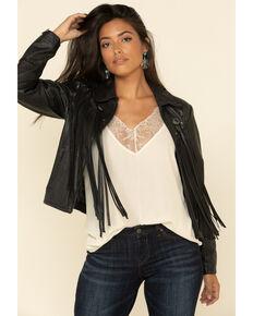 Idyllwind Women's Headline Concho Black Leather Jacket, Black, hi-res