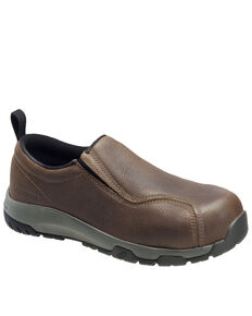 Nautilus Men's Slip-On Work Shoes - Composite Toe, Brown, hi-res