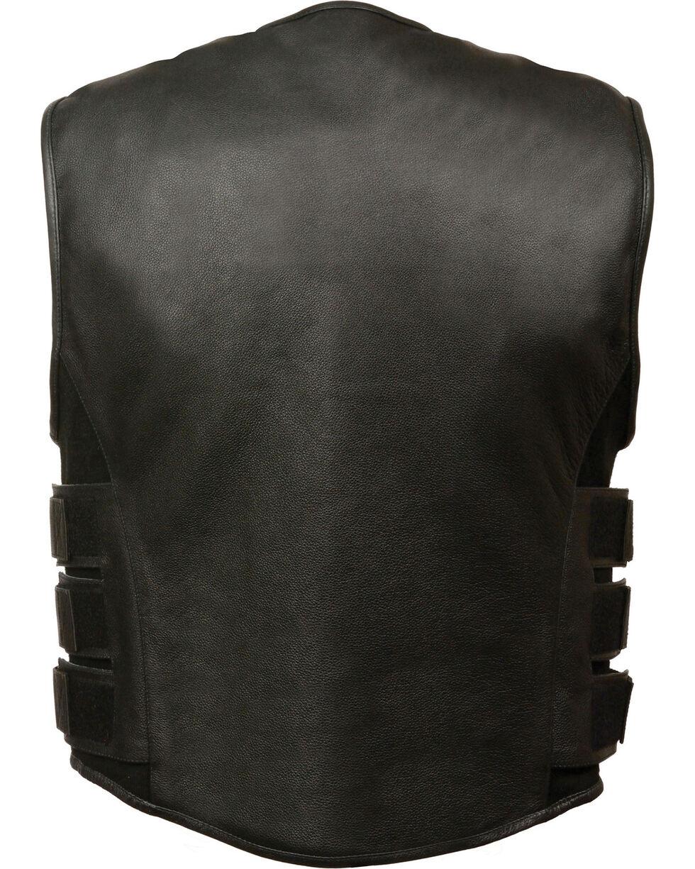 Milwaukee Leather Men's SWAT Style Zipper Front Vest - 5X, Black, hi-res