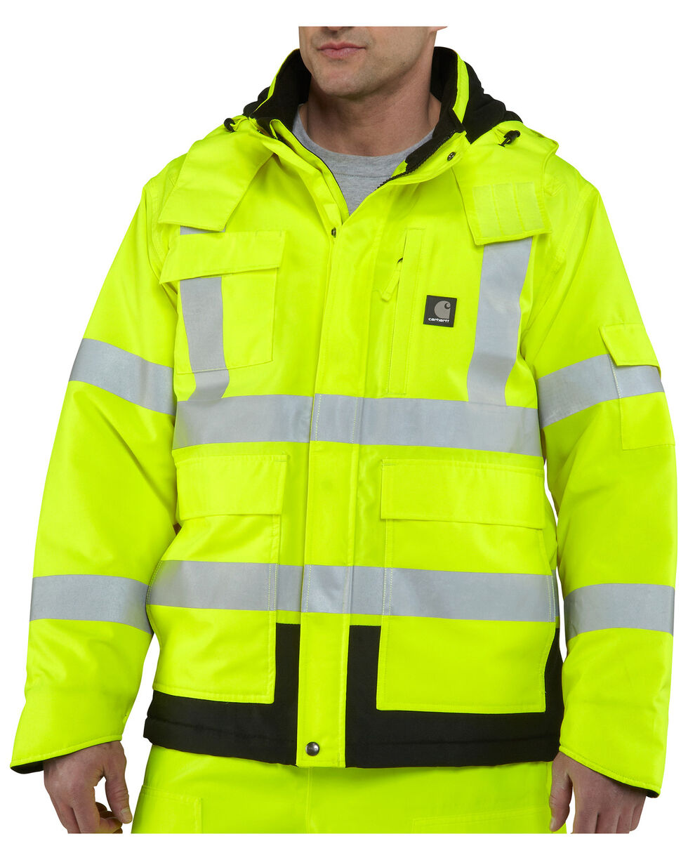 Carhartt High Visibility Water Repellent Sherwood Jacket, Lime, hi-res