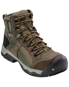 Keen Men's Davenport Waterproof Work Boots - Composite Toe, Brown, hi-res