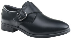 Eastland Women's Black Farrah Monk Strap Slip-Ons , Black, hi-res