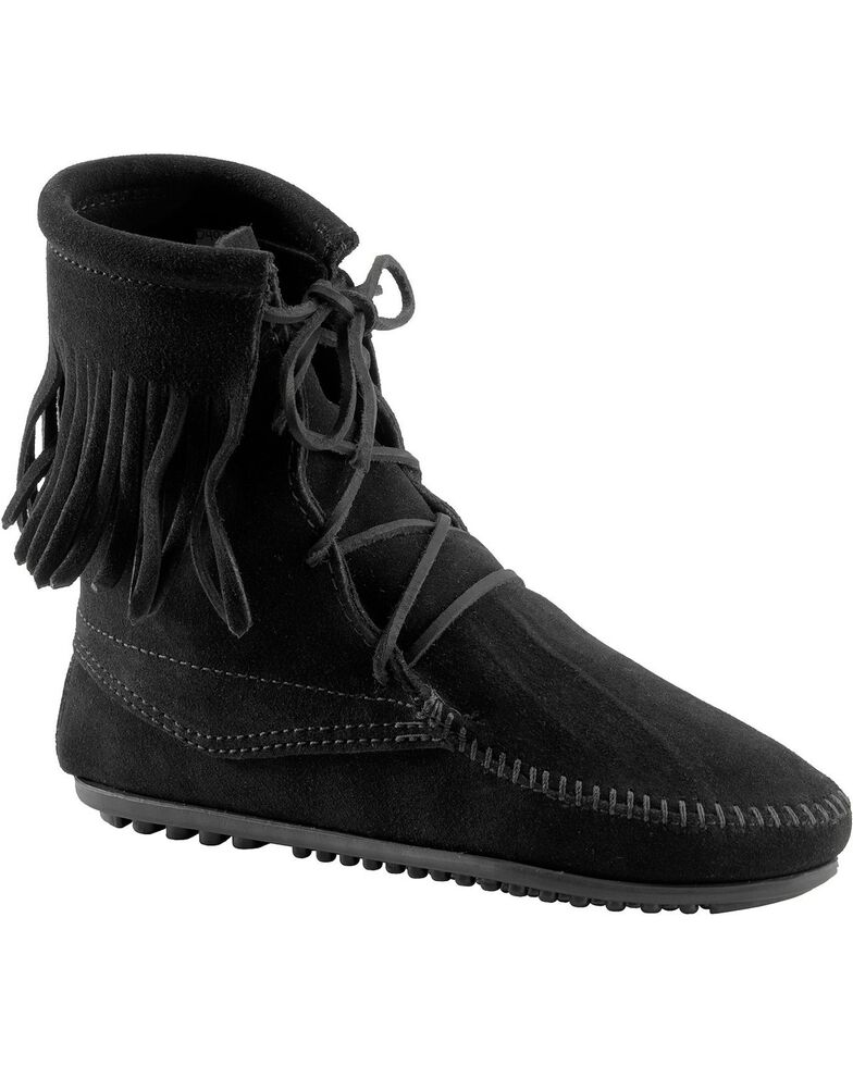 Minnetonka Tramper Moccasin Boots, Black, hi-res