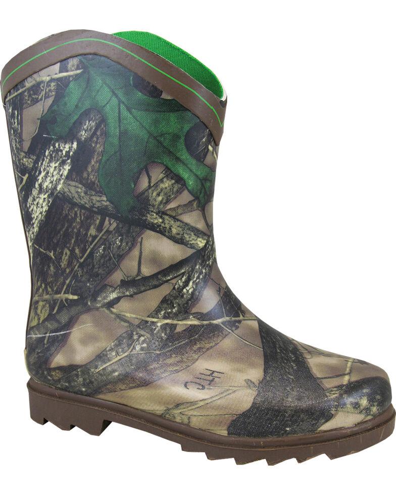 Smoky Mountain Boys' Muddy River Waterproof Boots, Brown, hi-res