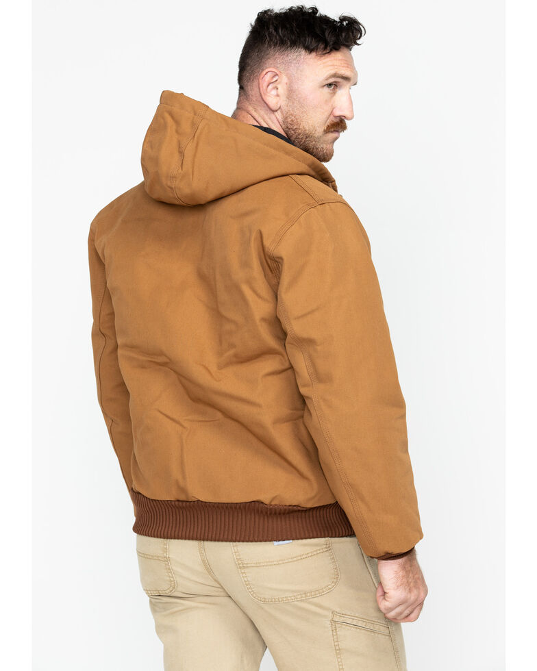 Carhartt Quilted Flannel-Lined Duck Active Jacket, Carhartt Brown, hi-res