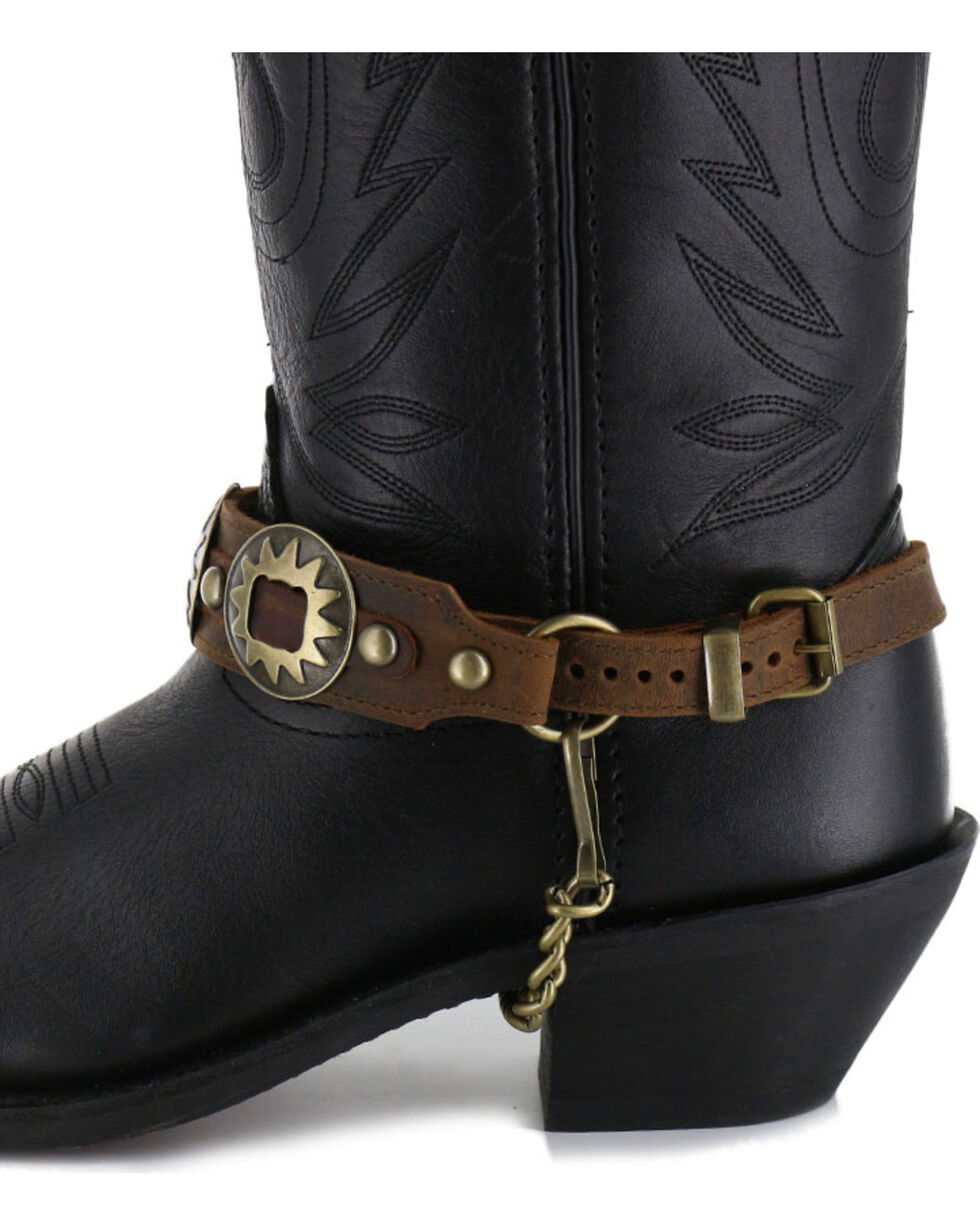 Almax Women's Studded Leather Boot Bracelet, Brown, hi-res