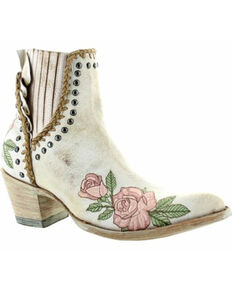 Old Gringo Women's Bouqet Toss Fashion Booties - Round Toe, Off White, hi-res