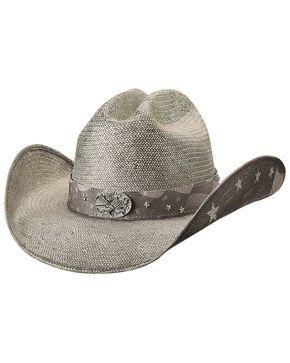 Bullhide Women's Land Of Freedom Straw Hat, Black, hi-res