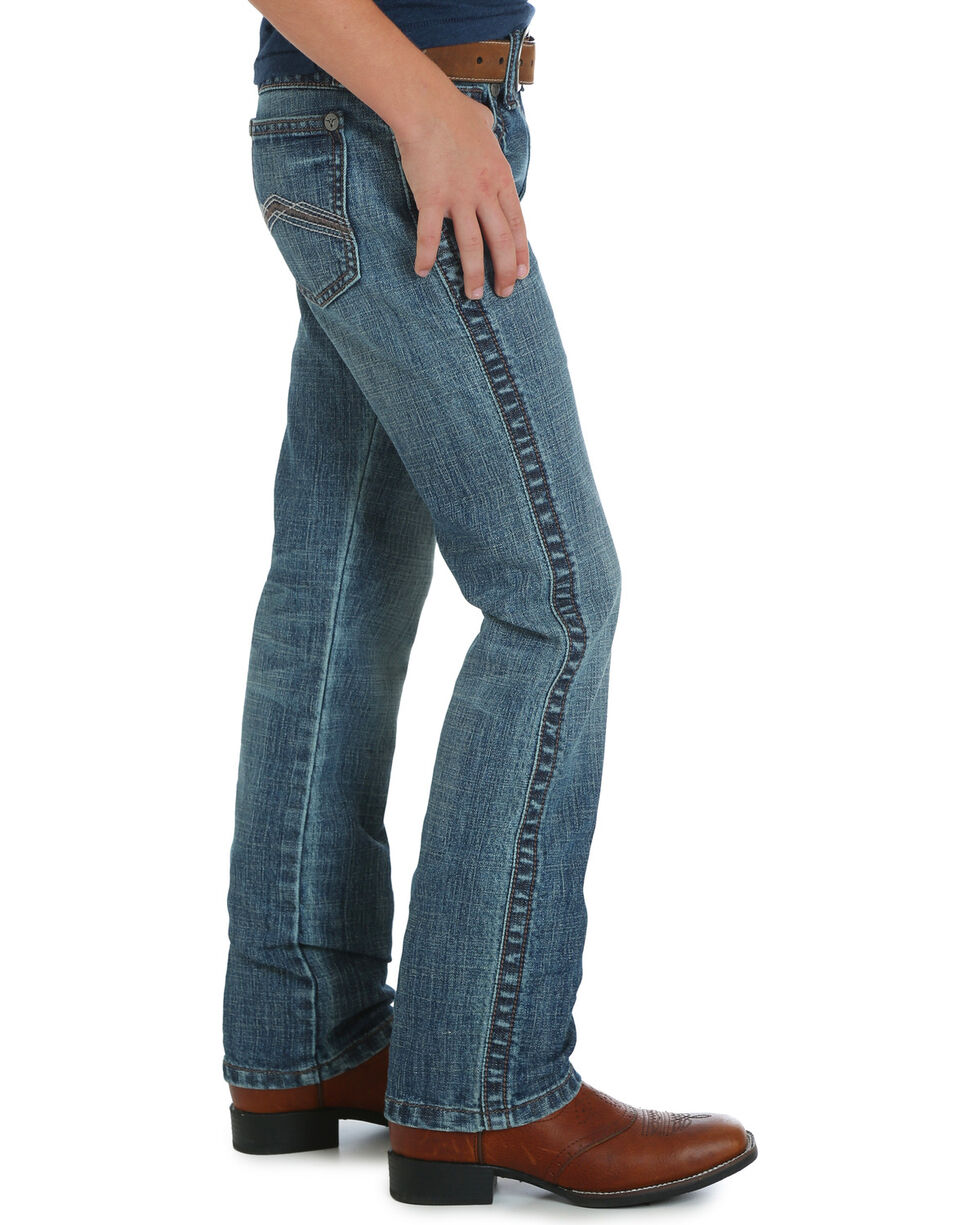 Wrangler Boys' (8-16) Blue 20X No. 44 Slim Fit Jeans - Straight Leg, Blue, hi-res