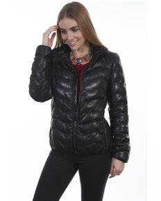Leatherwear by Scully Women's Black Ribbed Jacket, Black, hi-res