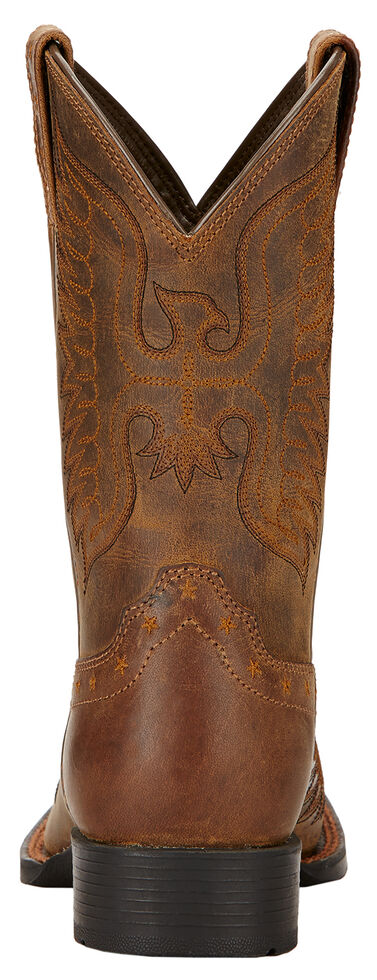 Ariat Youth Boys' Honor Cowboy Boots - Square Toe , Distressed, hi-res