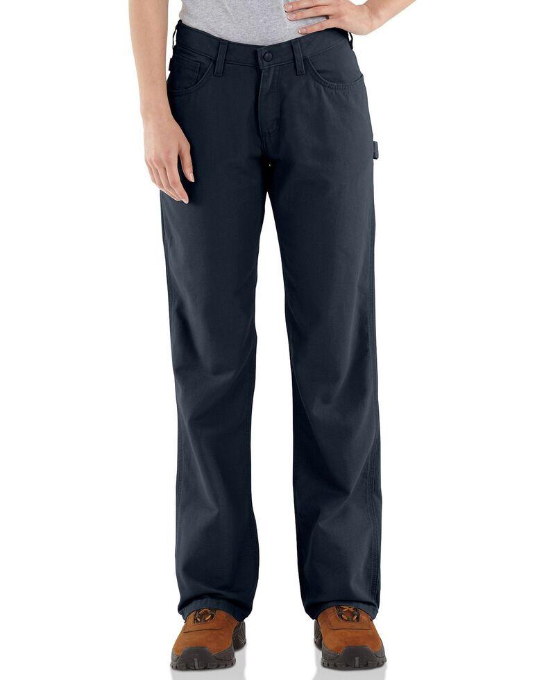 "Carhartt Flame Resistant Canvas Work Pants - 30"" Inseam, Navy, hi-res"